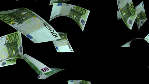 Falling Euro (Loop + Matte) Animation