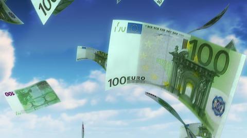 Money from Heaven - EUR (Loop) Stock Video Footage