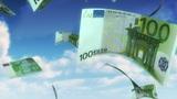 Money From Heaven - EUR (Loop) stock footage