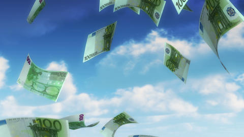 Money from Heaven - EUR (Loop) Stock Video Footage