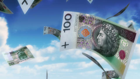 Money from Heaven - PLN (Loop) Stock Video Footage