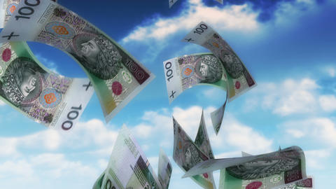 Money from Heaven - PLN (Loop) Stock Video Footage
