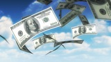 Money From Heaven - USD (Loop) stock footage