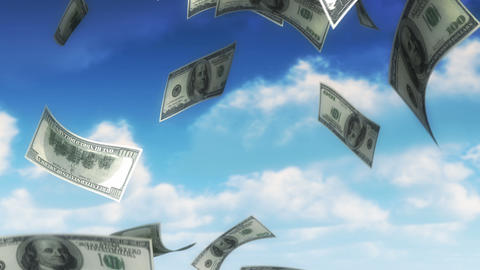 Money from Heaven - USD (Loop) Animation