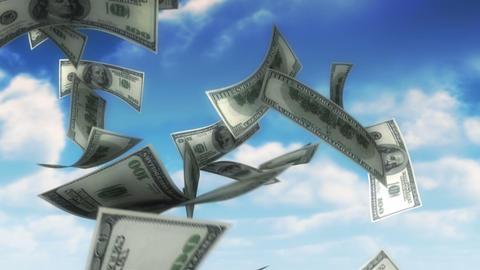 Money from Heaven - USD (Loop) Stock Video Footage