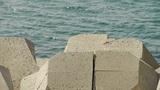 Dam Stone,Sparkling water surface,horizon Footage
