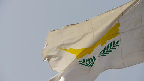 Cyprus flag is fluttering in wind Stock Video Footage