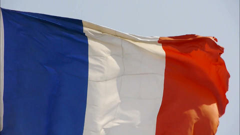 France flag is fluttering in wind Stock Video Footage