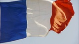 France Flag Is Fluttering In Wind stock footage