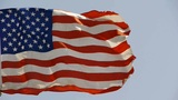 American flag is fluttering in wind Footage