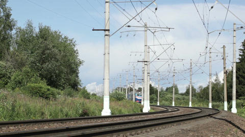 Blue train Stock Video Footage