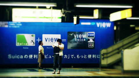 [Time Lapse] Shinjyuku Tarminal Stock Video Footage