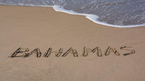 Paradise Beach Vacation in the Bahamas Stock Video Footage