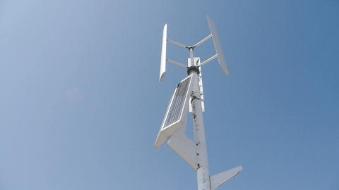 Wind solar turbine and new power energy Stock Video Footage