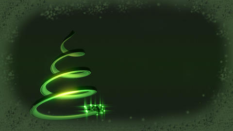 Christmas tree abstract Stock Video Footage