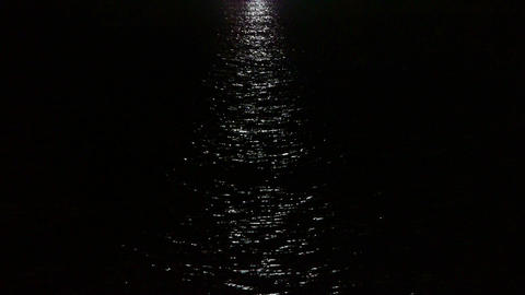 Water ripples reflection at night Stock Video Footage