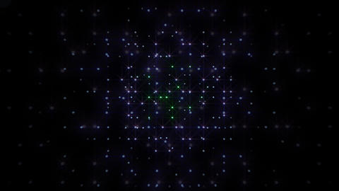 LED Light Space Hex 4r A 2 HD Stock Video Footage