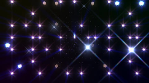 LED Light Space Hex 4r B 2f HD Stock Video Footage