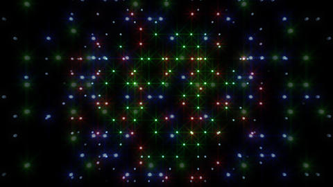 LED Light Space Hex 4r C 2 HD Stock Video Footage