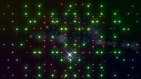 LED Light Space Hex 4s C 2f HD Stock Video Footage