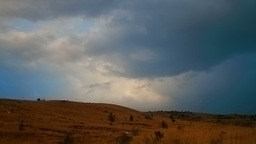 Clouds hilly scenery timelapse Stock Video Footage