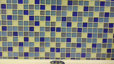 Panoramic of Mosaic wall Stock Video Footage