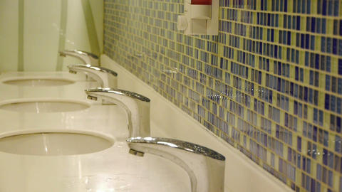 Luxurious faucets toilets,Mosaic Footage