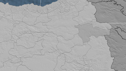 Agri - Turkey region extruded. Bumps Animation
