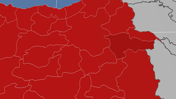 Agri - Turkey region extruded. Solids Animation