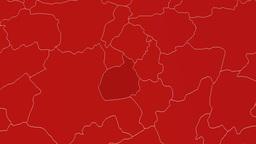 Aksaray - Turkey region extruded. Solids Animation