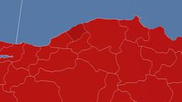 Bartin - Turkey region extruded. Solids Animation
