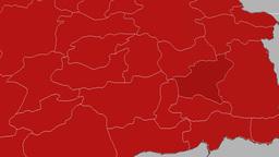 Bitlis - Turkey region extruded. Solids Animation