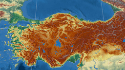 Bolu - Turkey region extruded. Set of four animations Animation