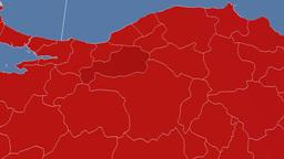 Bolu - Turkey region extruded. Solids Animation
