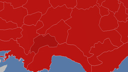 Burdur - Turkey region extruded. Solids Animation