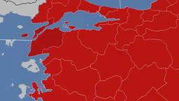 Canakkale - Turkey region extruded. Solids Animation
