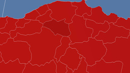 Cankiri - Turkey region extruded. Solids Animation