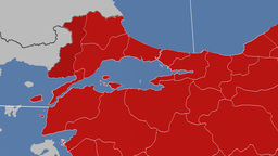 Edirne - Turkey region extruded. Solids Animation