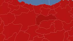 Erzincan - Turkey region extruded. Solids Animation