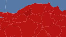 Karabuk - Turkey region extruded. Solids Animation