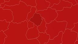 Kirsehir - Turkey region extruded. Solids Animation