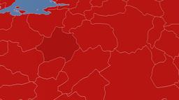 Kutahya - Turkey region extruded. Solids Animation
