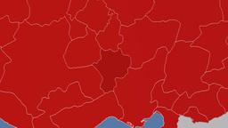 Nigde - Turkey region extruded. Solids Animation
