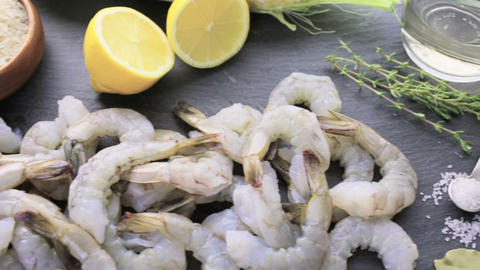 Corn Risotto with Roasted Shrimp Footage