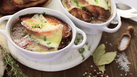 French Onion Soup Footage