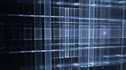 Dynamic Blue Translucent Cubical Horizon with Flare Animation