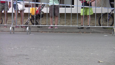 Spectators in a cycling contest 40a Footage