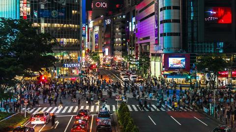 Shibuya in Time Lapse, Tokyo, Japan Footage