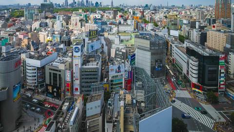 Panorama of Shibuya, Tokyo in Time Lapse Footage