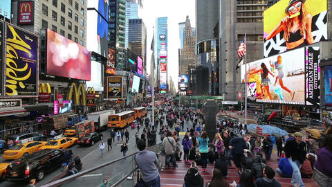 New York, Times Square in Time-Lapse Footage